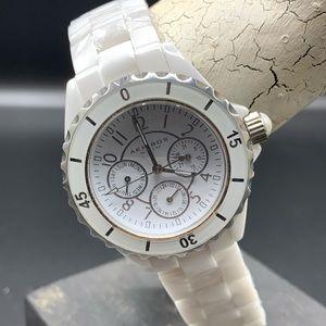 Akribos XXIV White Ceramic woman's watch